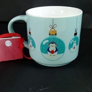 Blue Penguin Animal Ornaments Flip Cup Mug